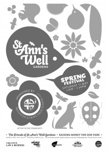 st ann's well flyer b:w